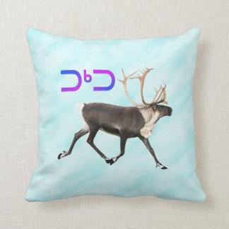 Tuktu - Caribou On Snow Throw Pillow
