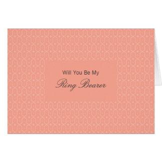Tula Floral Batik Be My Ring Bearer Invitation Greeting Card