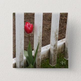 Tulip 2 Inch Square Button