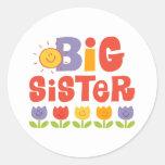 Tulip Big Sister Round Stickers
