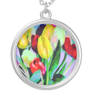 Tulip Bouquet Necklace