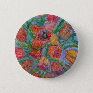 Tulip Burst 2 Inch Round Button
