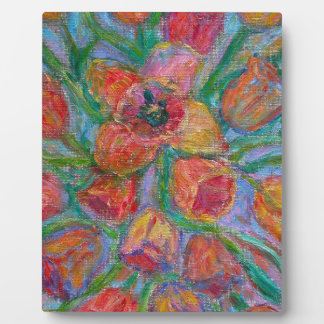 Tulip Burst Plaque