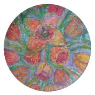 Tulip Burst Plate