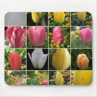 Tulip Collage Mousepad