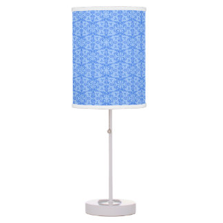 Tulip damask blue patterned graphic lamp