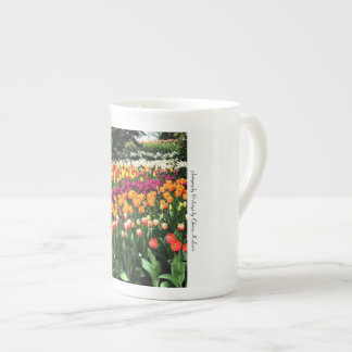 Tulip Design Personalized Bone China Mug