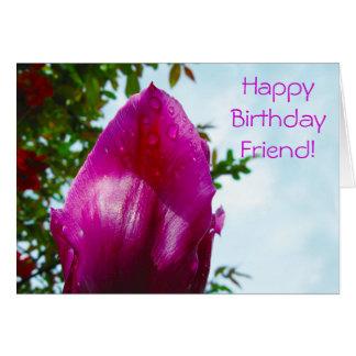 Tulip-Drops, Happy Birthday Card