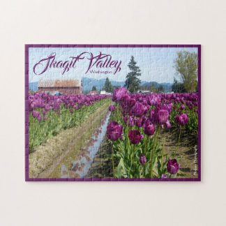 Tulip Fields (Purple) & Barn (Skagit Valley) Jigsaw Puzzle