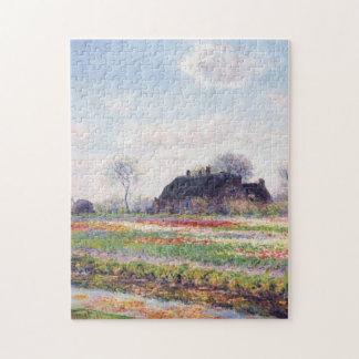 Tulip Fields Sassenheim Haarlem Monet Fine Art Jigsaw Puzzle