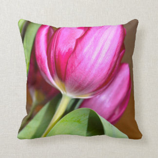 Tulip Floral Throw Pillow