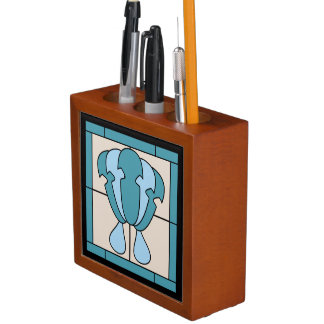 Tulip Flower Art Deco Expression Desk Organizer