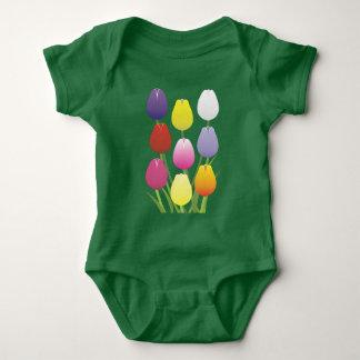 Tulip Flower Baby Bodysuit