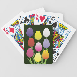 Tulip Flower Bicycle Playing Cards