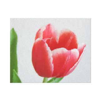 Tulip flower Canvas floral watercolor art
