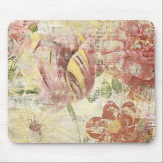 Tulip Flower Collage Mousepads