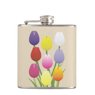 Tulip Flower Hip Flask