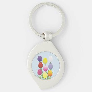 Tulip Flower Keychain