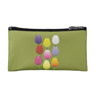 Tulip Flower Makeup Bag