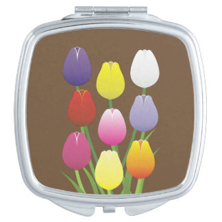 Tulip Flower Mirror For Makeup