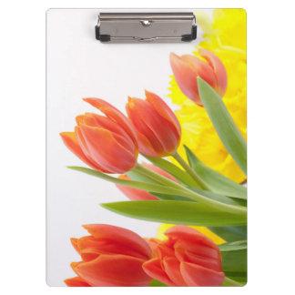 Tulip Flower Petals Orange Nature Decorative Clipboards