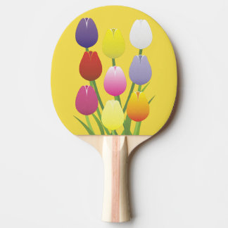 Tulip Flower Ping Pong Paddle