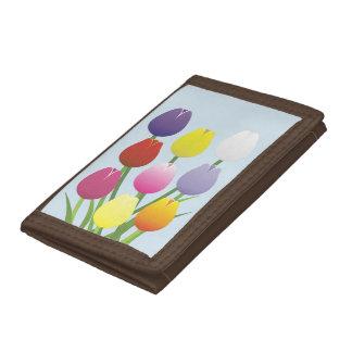 Tulip Flower Tri-fold Wallet