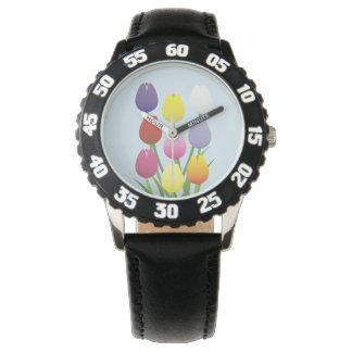 Tulip Flower Watch