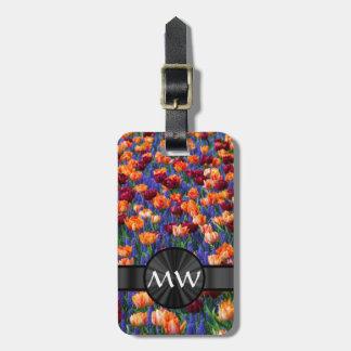Tulip flowers bag tag