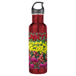 Tulip Garden Floral 710 Ml Water Bottle