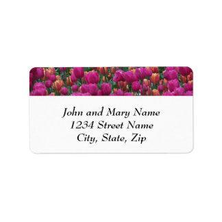 Tulip Garden Floral Return Address Label