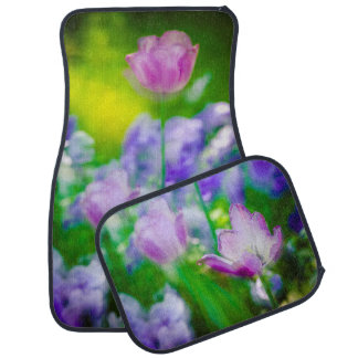 Tulip garden, Giverny, France Car Mat