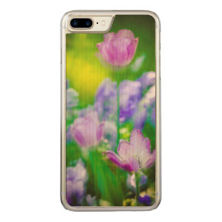 Tulip garden, Giverny, France Carved iPhone 7 Plus Case