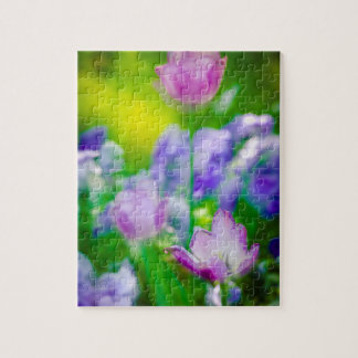 Tulip garden, Giverny, France Jigsaw Puzzle