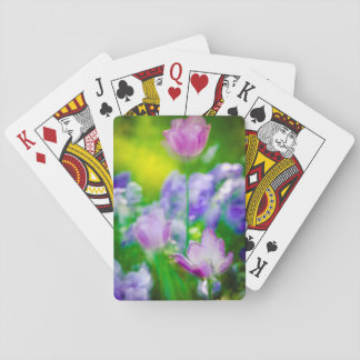 Tulip garden, Giverny, France Poker Deck