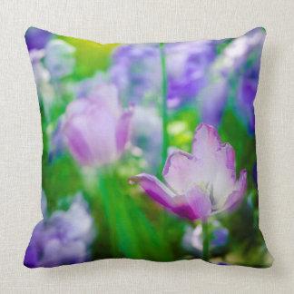 Tulip garden, Giverny, France Throw Pillow