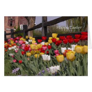 Tulip Garden Happy Easter Card
