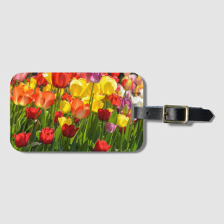 Tulip Garden in the Spring Luggage Tag