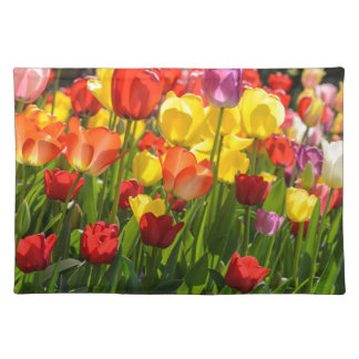 Tulip Garden in the Spring Place Mat