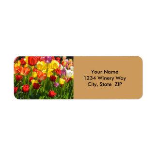 Tulip Garden in the Spring Return Address Label