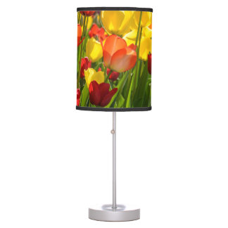 Tulip Garden in the Spring Table Lamp