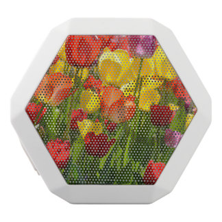 Tulip Garden in the Spring White Bluetooth Speaker