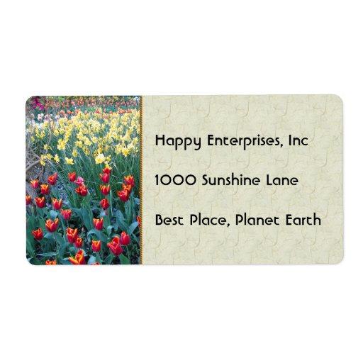 Tulip Garden Shipping Labels