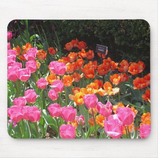 Tulip garden mousepad