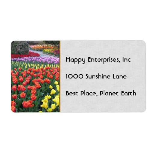 Tulip Gardens Labels