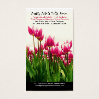 Tulip Grower or Floral Bulb Sales Business Card