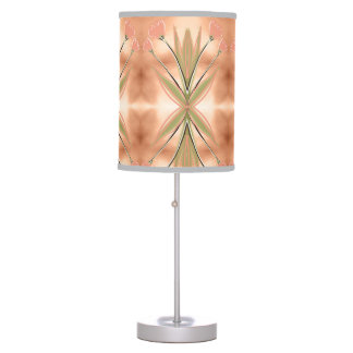 Tulip Lamp Shade With Pink Coral Print