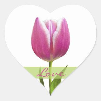 Tulip Love Heart Wedding Sticker Envelope Seals