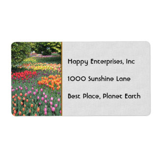 TULIP MEADOW SHIPPING LABEL