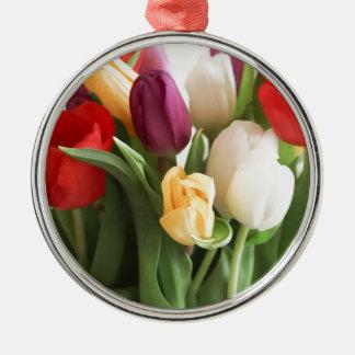 tulip metal ornament